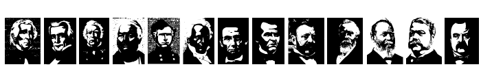 Presidents of the United States of America Font LOWERCASE