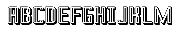 Prussian Brew Offset Font UPPERCASE