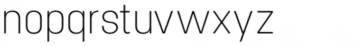 Project Soft Ultra Light Font LOWERCASE