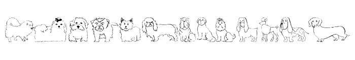 Puppins Font LOWERCASE