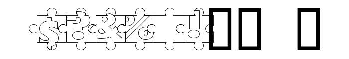Puzzle Pieces Outline Font OTHER CHARS