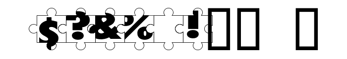 Puzzle Pieces Font OTHER CHARS