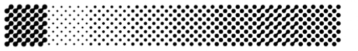 Puzzler Halftone Fine Font OTHER CHARS