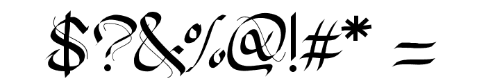 PW Gothic Style Font OTHER CHARS