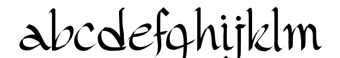 PW Gothic Style Font LOWERCASE