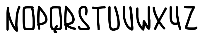 PWAugustbold Font UPPERCASE