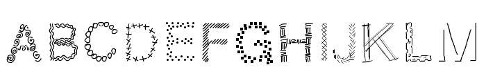 PWPatchwork Font LOWERCASE
