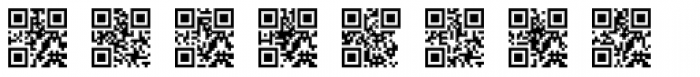 QR Code Font OTHER CHARS