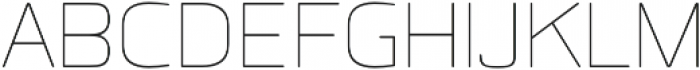 Quan Rounded Thin otf (100) Font UPPERCASE
