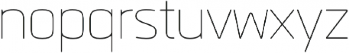 Quan Rounded Thin otf (100) Font LOWERCASE