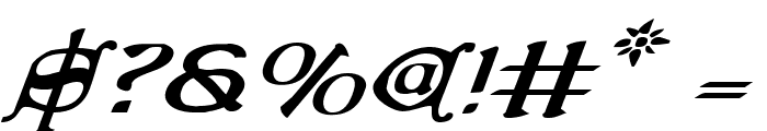 Queen & Country Expanded Italic Font OTHER CHARS