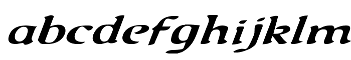 Queen & Country Expanded Italic Font LOWERCASE