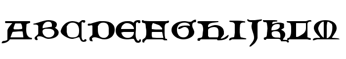Queen & Country Expanded Font UPPERCASE