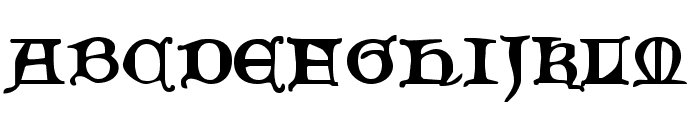 Queen & Country Font UPPERCASE