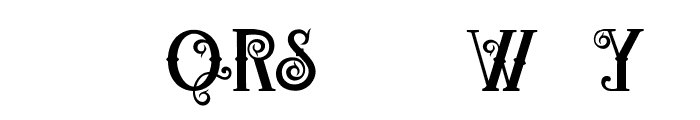 QWERLY Font UPPERCASE