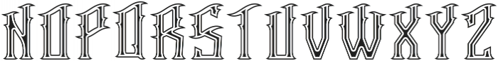 Racer Inline and Outline otf (400) Font LOWERCASE