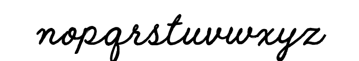 Raw Selvage Font LOWERCASE