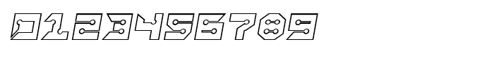 Rayzor Sharp Outline Italic Font OTHER CHARS