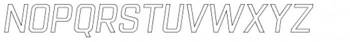 Racon Outline S Font LOWERCASE