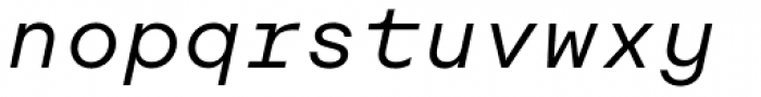 Rational TW Text Book Italic Font LOWERCASE