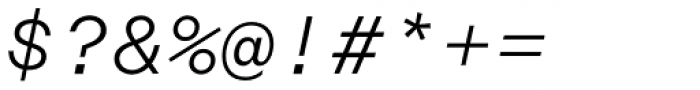 Rational TW Text Light Italic Font OTHER CHARS