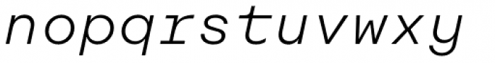 Rational TW Text Light Italic Font LOWERCASE