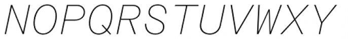 Rational TW Text Thin Italic Font UPPERCASE