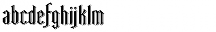 Ravenwood Two Condensed Font LOWERCASE