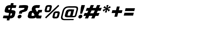 RBNo31 Extra Bold Italic Font OTHER CHARS