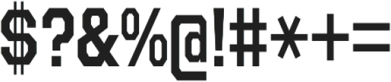 Refuel Condensed SemiBold otf (600) Font OTHER CHARS