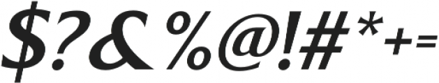 Revans Medium Italic otf (500) Font OTHER CHARS