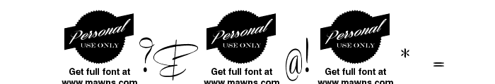 Recorda Script Personal Use Only Font OTHER CHARS