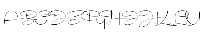 Recorda Script Personal Use Only Font UPPERCASE
