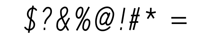 RedWood Thick Oblique Font OTHER CHARS