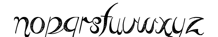 Reed of Love Font LOWERCASE