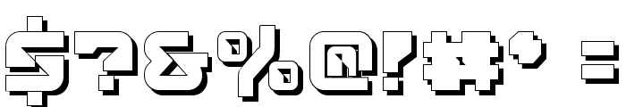 Replicant Shadow Font OTHER CHARS