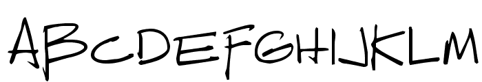 Reprobate Font UPPERCASE