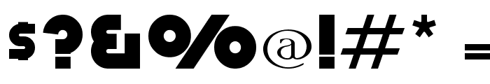 Retro Mono Wide Font OTHER CHARS