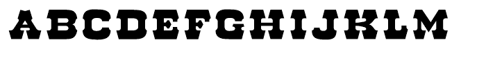 Red Dog Saloon Open Fill Font UPPERCASE