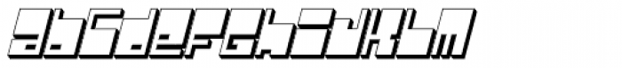 Real Fat Bold Italic Font LOWERCASE