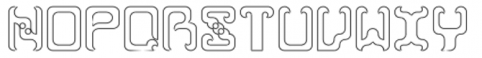 Reaver Hollow Font UPPERCASE