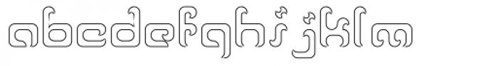 Reaver Hollow Font LOWERCASE