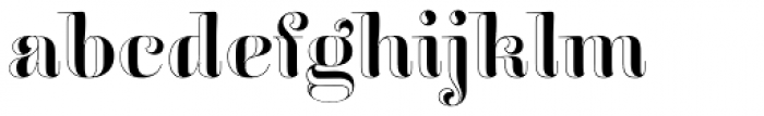 Reina Engraved Standard Font LOWERCASE
