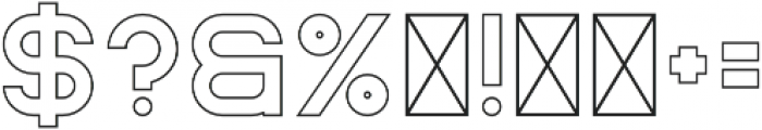 Rhino Outline otf (400) Font OTHER CHARS