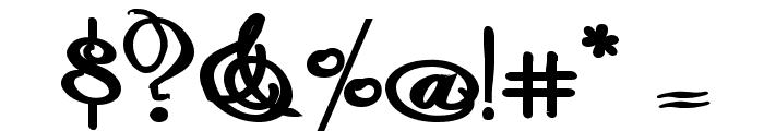 Rhalina Bold Expanded Font OTHER CHARS