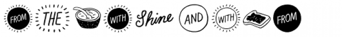 Rise And Shine Extras Font LOWERCASE