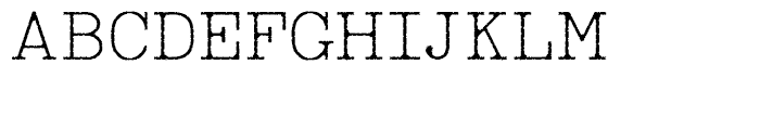 RM True To Type Regular Old Font UPPERCASE