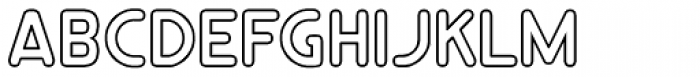 RM Smoothsans Outline Font UPPERCASE