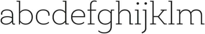 Roble Thin otf (100) Font LOWERCASE