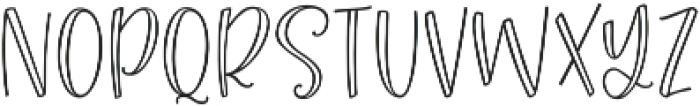 Roseroot Cottage Sans Hollow ttf (400) Font LOWERCASE